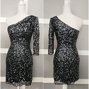 Sherri Hill Dresses - Sherri Hill Lace Sequin Formal Cocktail Dress 2